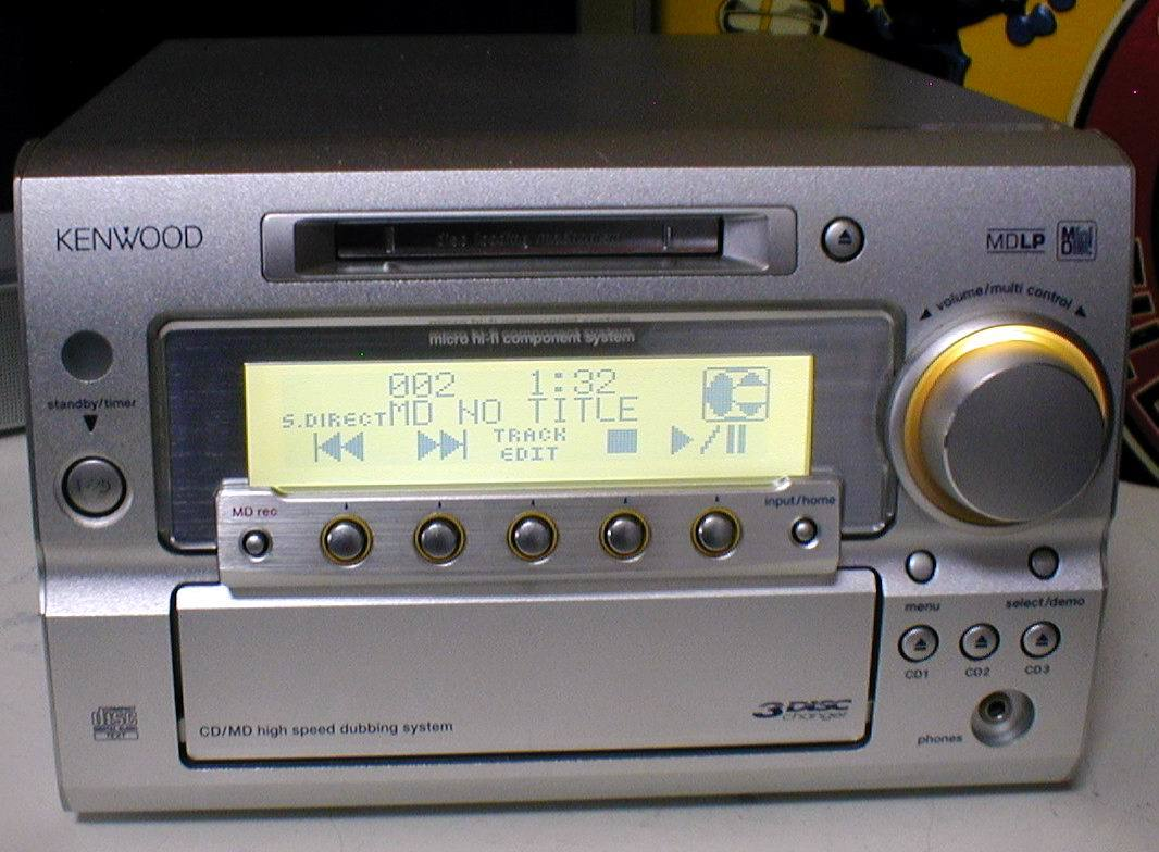 KENWOOD RD-SG55MD MD-LP/3CD/AUX/FM-AM 30W+30W STEREO System-HEAD_画像6