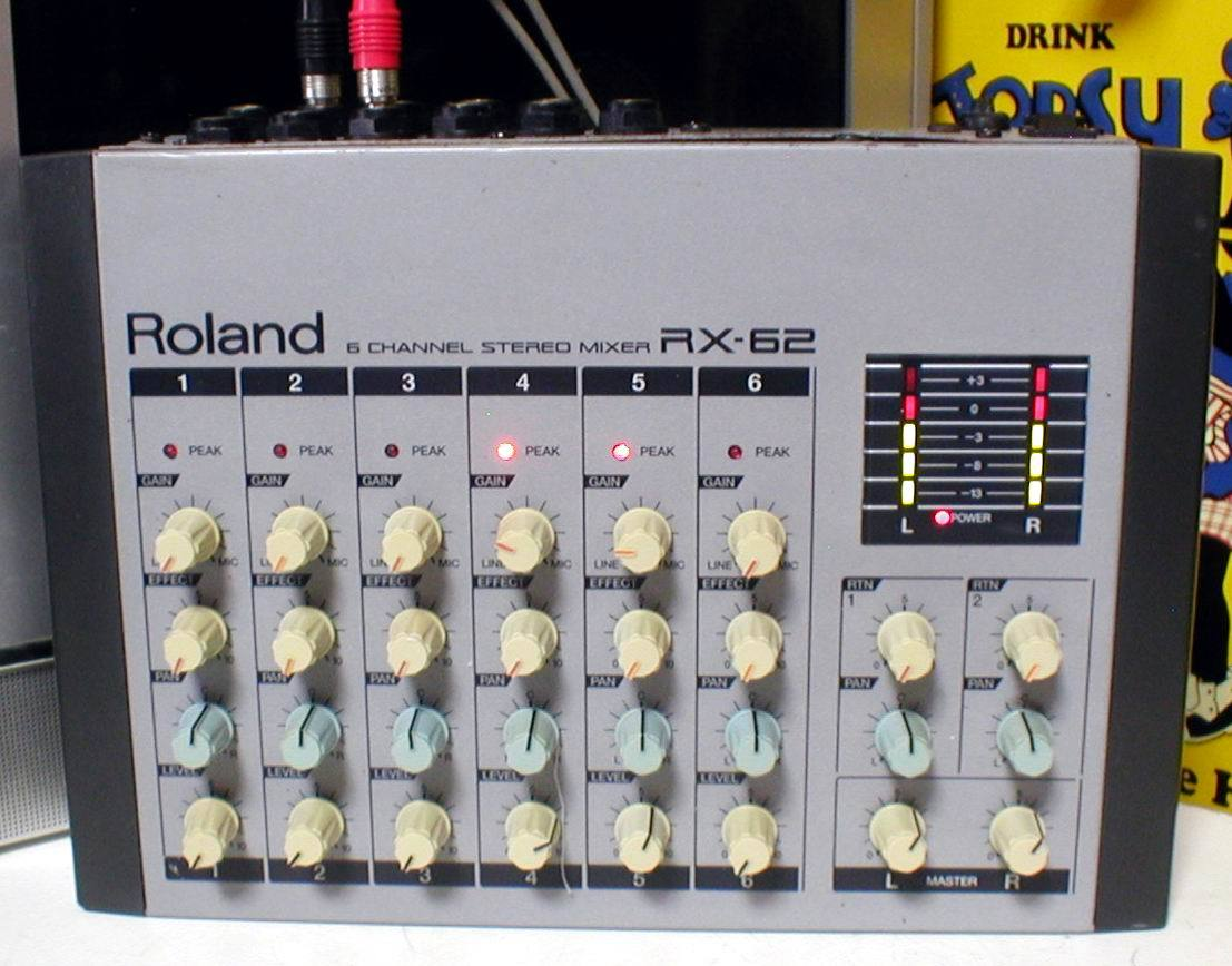 Roland RX-62 Portable 6channel Stereo Mixer 動作OK!