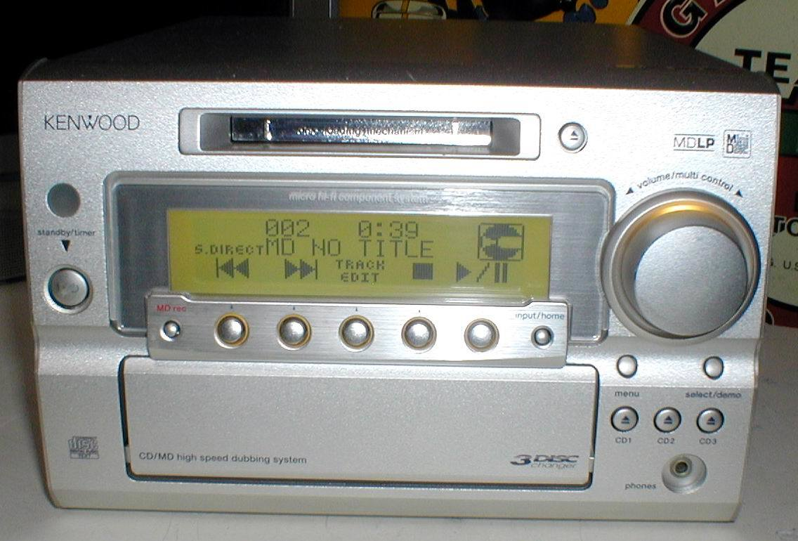 KENWOOD RD-SG55MD MD-LP/3CD/AUX/FM-AM 30W+30W STEREO System-HEAD_画像4