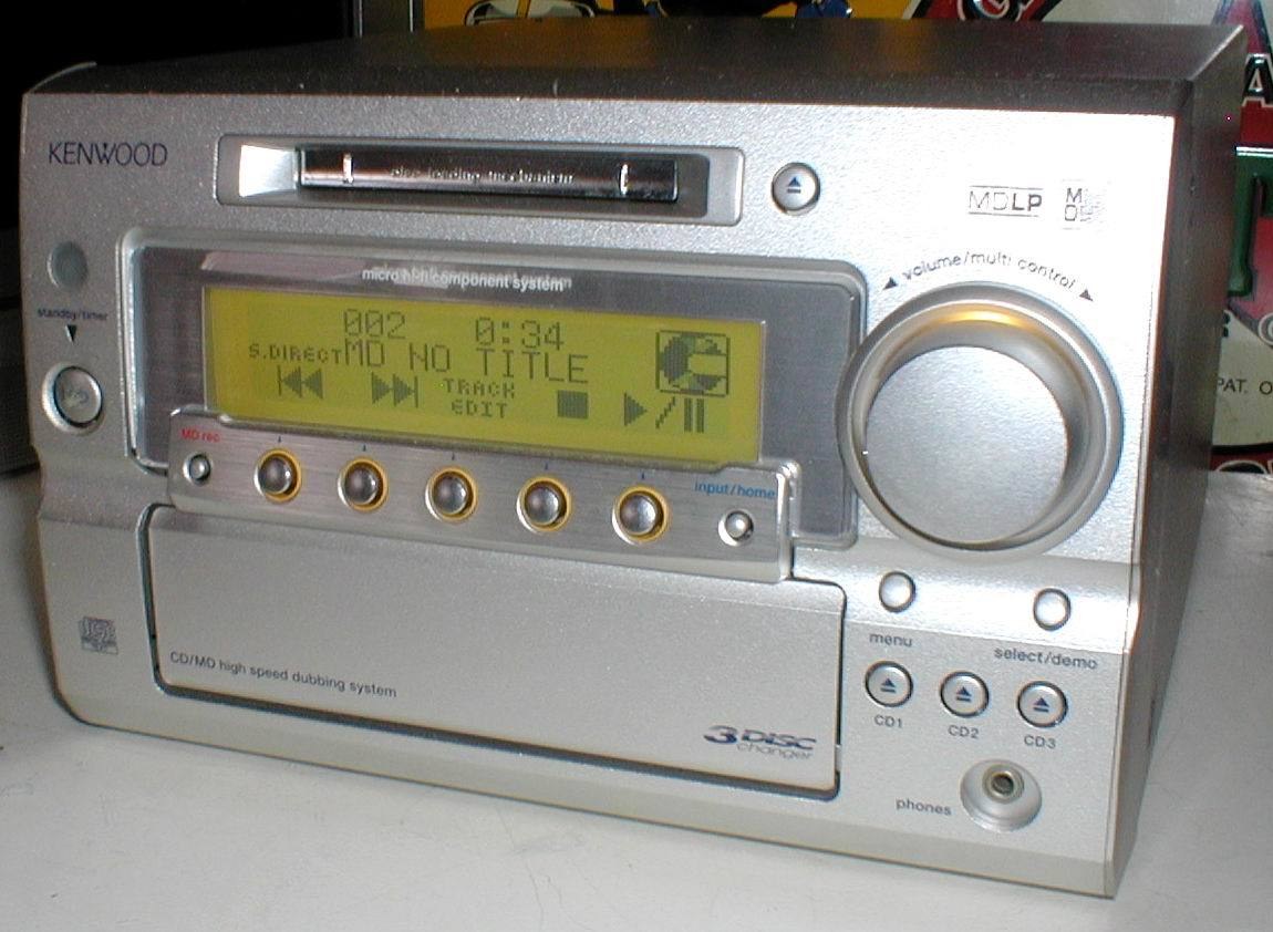 KENWOOD RD-SG55MD MD-LP/3CD/AUX/FM-AM 30W+30W STEREO System-HEAD_画像5