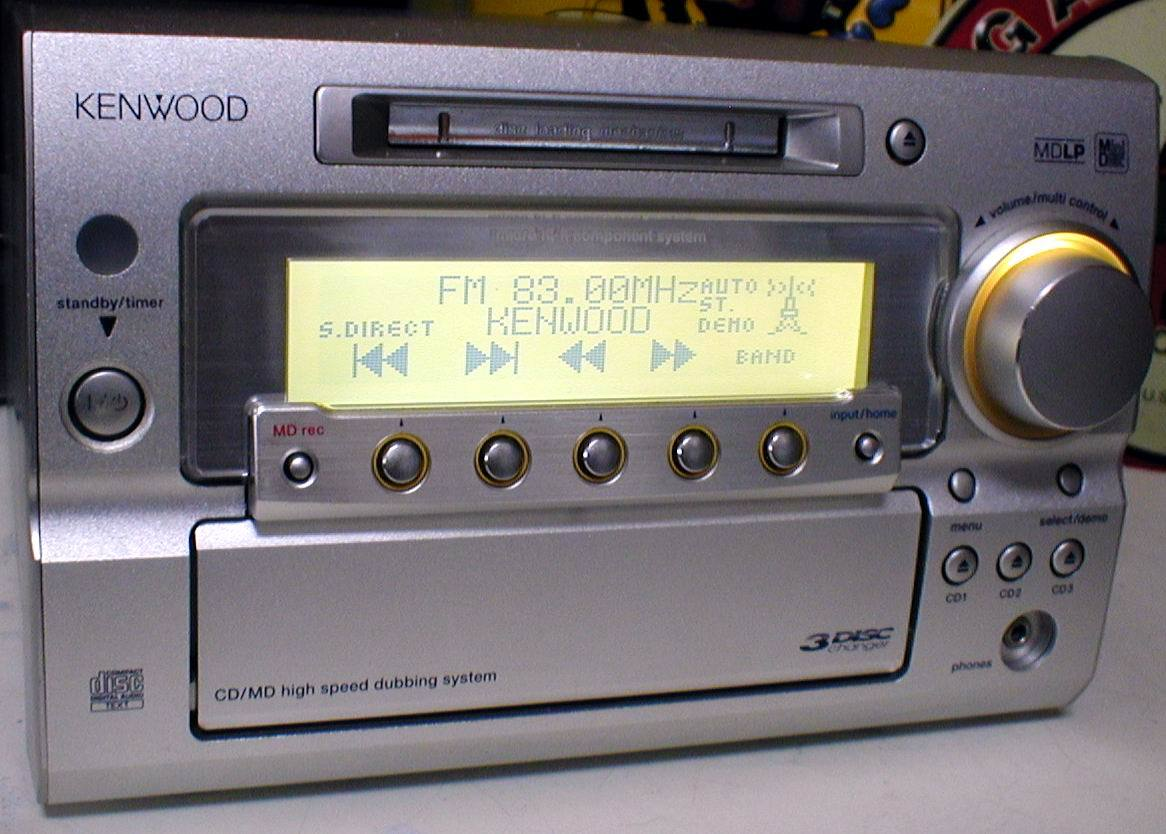 KENWOOD RD-SG55MD MD-LP/3CD/AUX/FM-AM 30W+30W STEREO System-HEAD_画像3