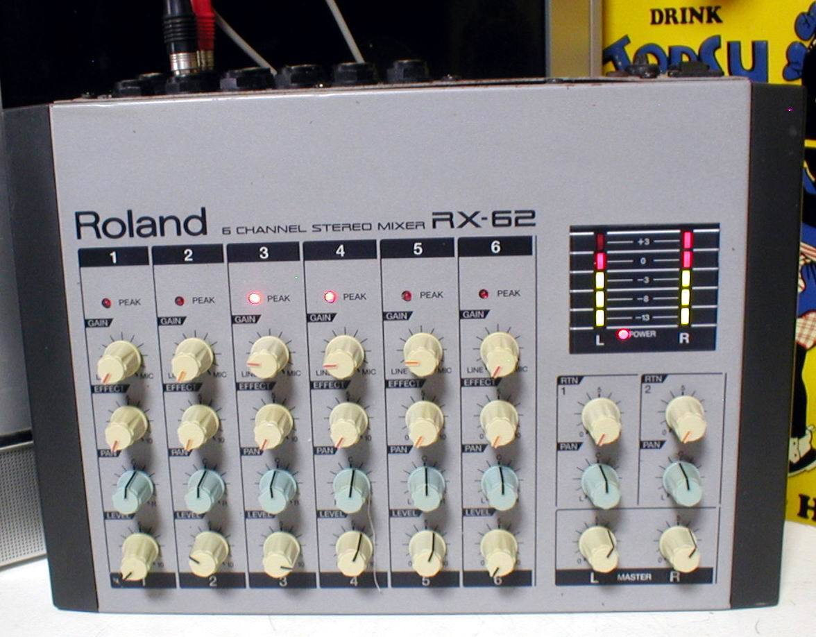 Roland RX-62 Portable 6channel Stereo Mixer 動作OK!_画像3