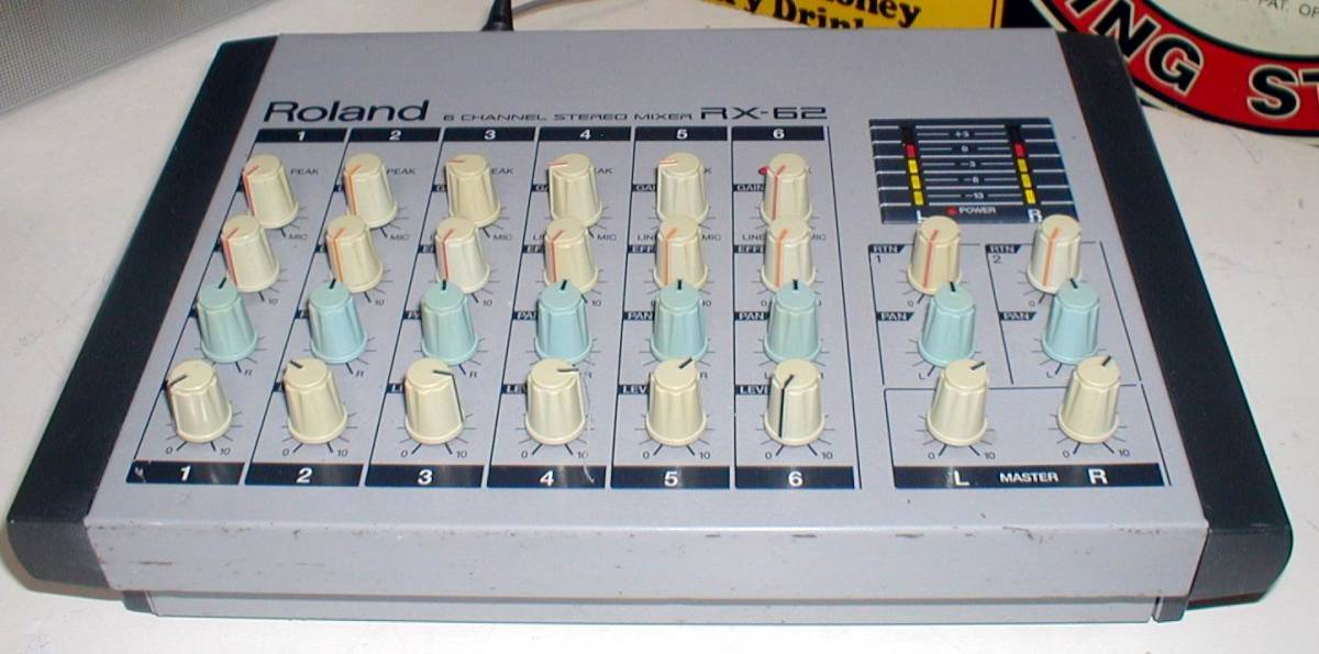 Roland RX-62 Portable 6channel Stereo Mixer 動作OK!_画像2