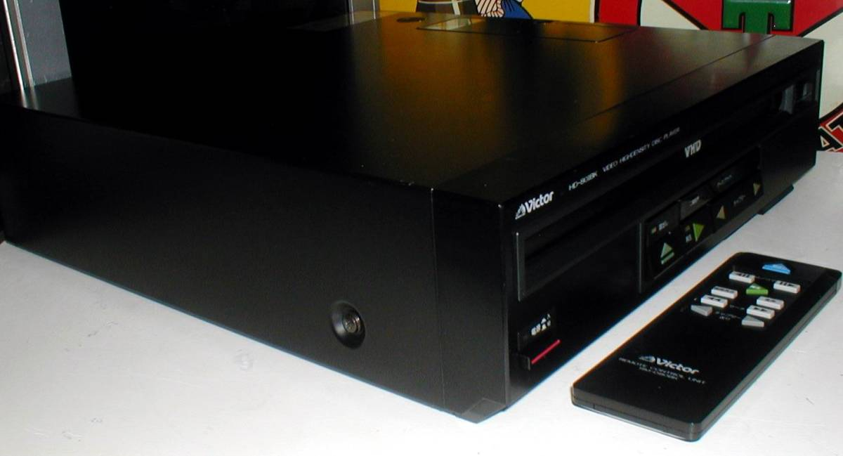 Victor HD-801BK VIDEO HIGHDENSITY DISC PLAYER VHD 小型 ビデオディスクプレーヤー 綺麗! リモコン付き_画像4
