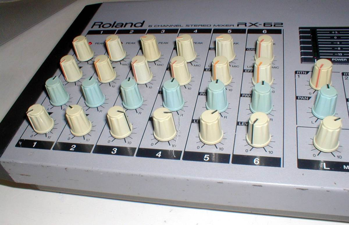 Roland RX-62 Portable 6channel Stereo Mixer 動作OK!_画像6