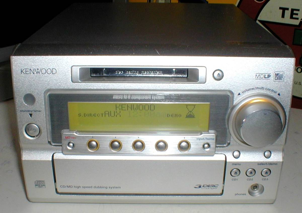 KENWOOD RD-SG55MD MD-LP/3CD/AUX/FM-AM 30W+30W STEREO System-HEAD