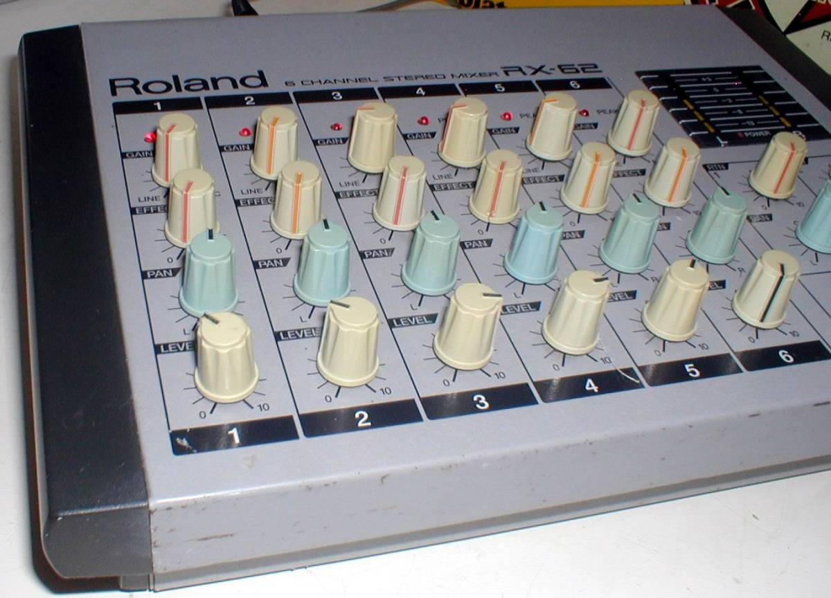 Roland RX-62 Portable 6channel Stereo Mixer 動作OK!_画像8