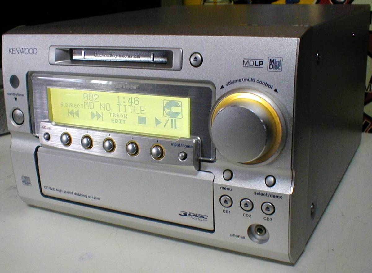 KENWOOD RD-SG55MD MD-LP/3CD/AUX/FM-AM 30W+30W STEREO System-HEAD_画像2