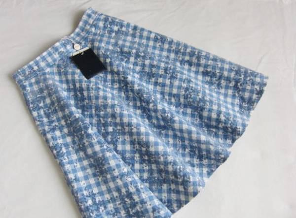 ◆ジャスグリッティー JUSGLITTY 新品 小さい チェック×柄 フレアースカート