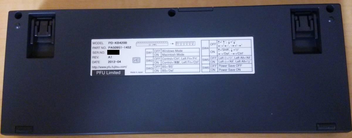 【美品】Happy Hacking Keyboard Professional JP 日本語 黒 キーボード (HHKB Pro JP)_画像4