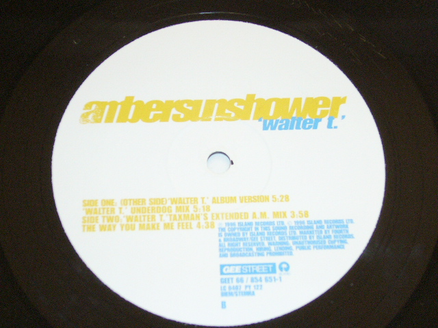 AMBERSUNSHOWER /WALTER T/UNDERDOG Mix/TAXMANS EXTENDED AM Mix/THE WAY YOU MAKE ME FEEL / 1996年盤 / GEET 66 / UK盤 / 試聴検査済み_画像3