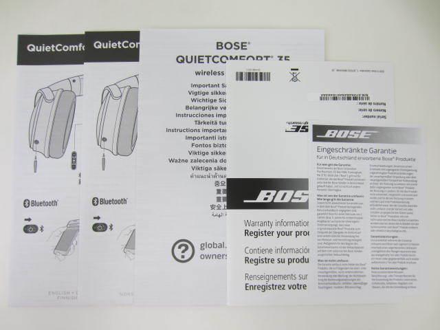 BOSE ボーズ 【QC35】 QuietComfort 35 wireless headphones 中古美品 音出し確認済 外箱あり ワイヤレスヘッドホン_画像9