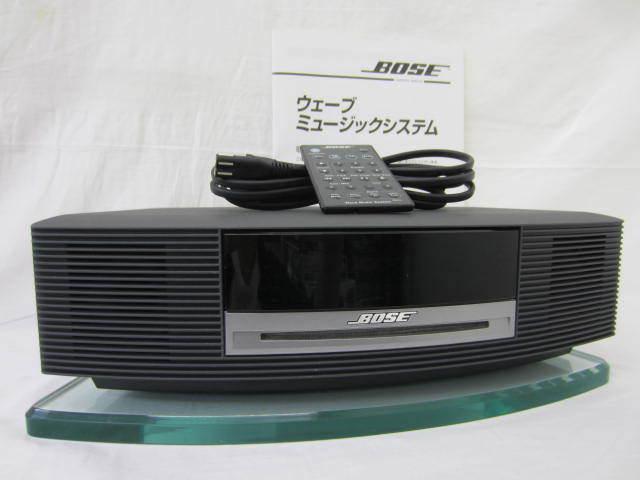 BOSE ボーズ 【WaveMusicSystem】 ウェーブミュージックシステム ジャンク AWRCCB リモコン・説明書・ガラス台座あり