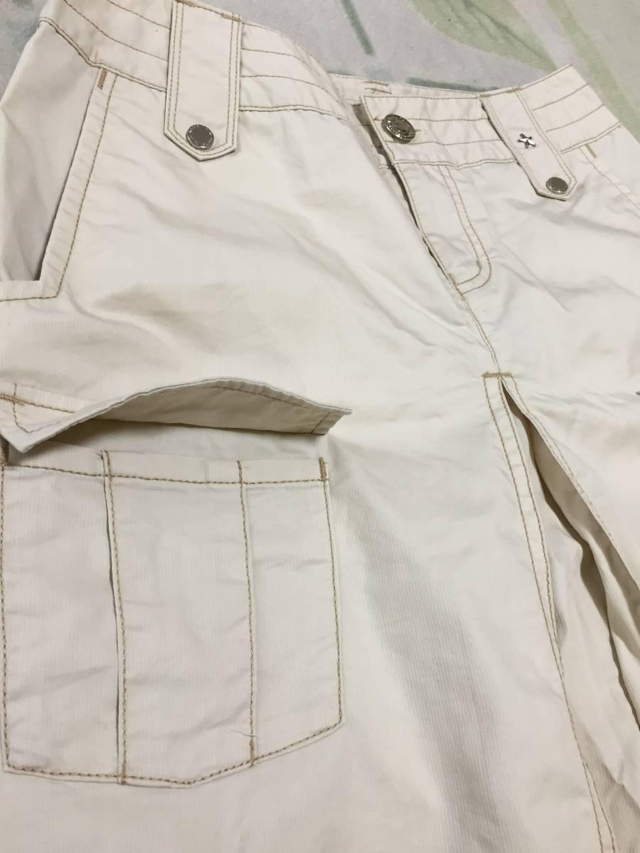 KAPPA ボックスプリーツスカート 夏用ベージュ サイズ7 USED美品_画像5