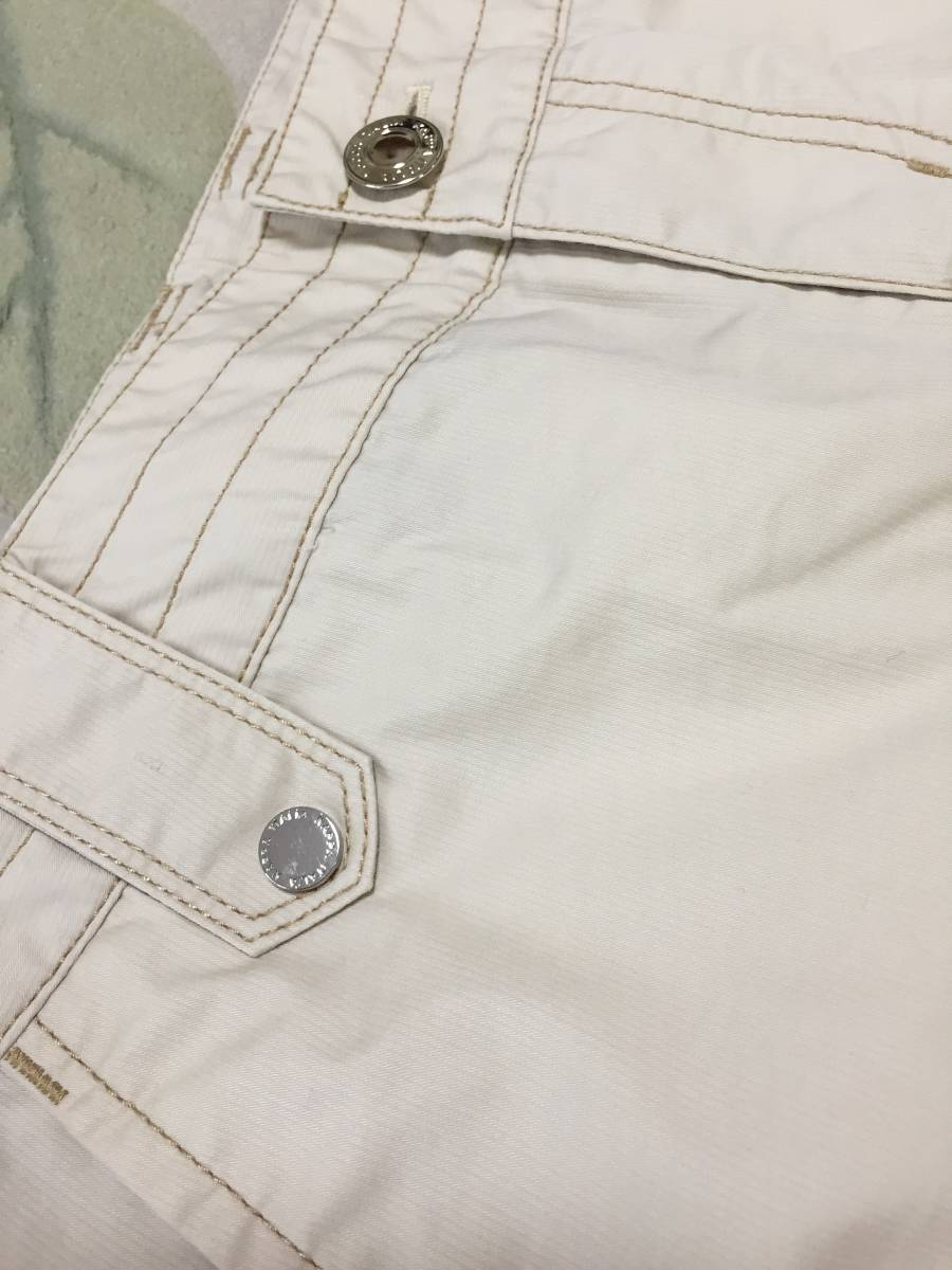 KAPPA ボックスプリーツスカート 夏用ベージュ サイズ7 USED美品_画像8
