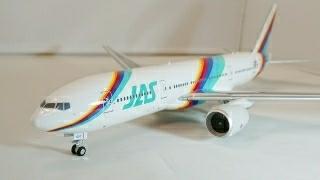 JAS JAL レインボー 777-200 1/200 インフライト系金属モデル EAGLE