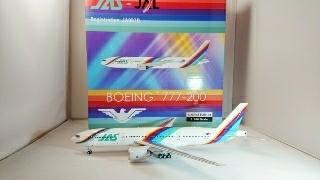 JAS JAL レインボー 777-200 1/200 インフライト系金属モデル EAGLE_画像4