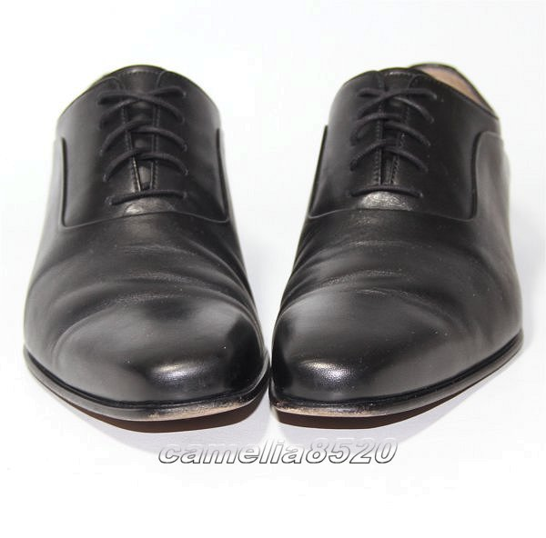 CASTELLI by Joy カステリ プレーントゥ フォーマル / ビジネスシューズ 黒 ブラック レザー 本革 40 サイズ 約24.5cm 美品 使用僅か _画像3