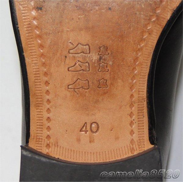 CASTELLI by Joy カステリ プレーントゥ フォーマル / ビジネスシューズ 黒 ブラック レザー 本革 40 サイズ 約24.5cm 美品 使用僅か _画像2