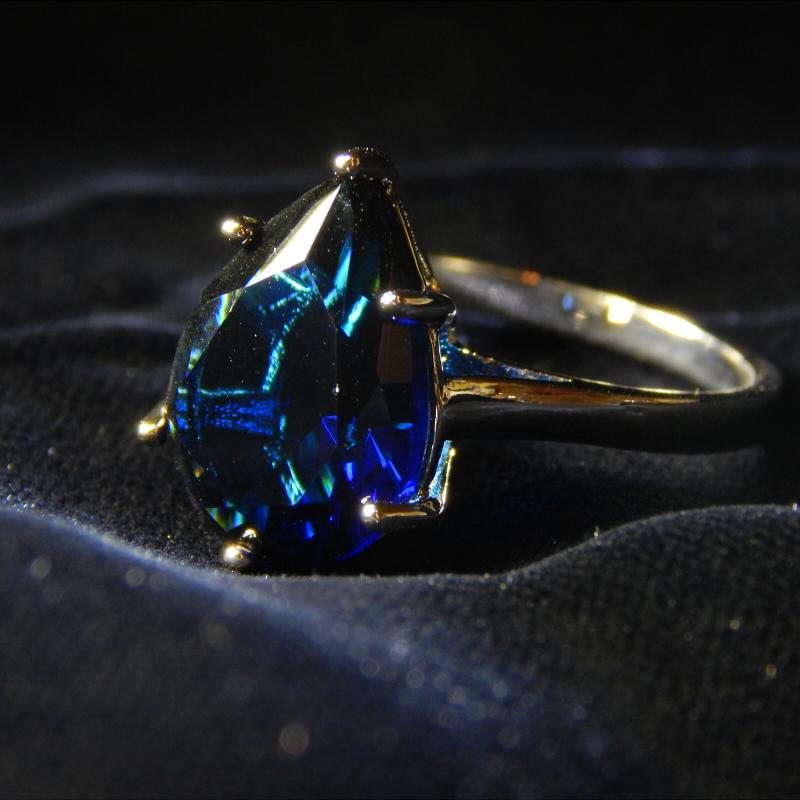 16号 逸品 豪華 厳選 極大粒 必見 新品未使用 限定入荷 約5.62ct CZサファイアブルーダイヤモンドリング 大粒ジルコニア プラチナ仕上_画像2