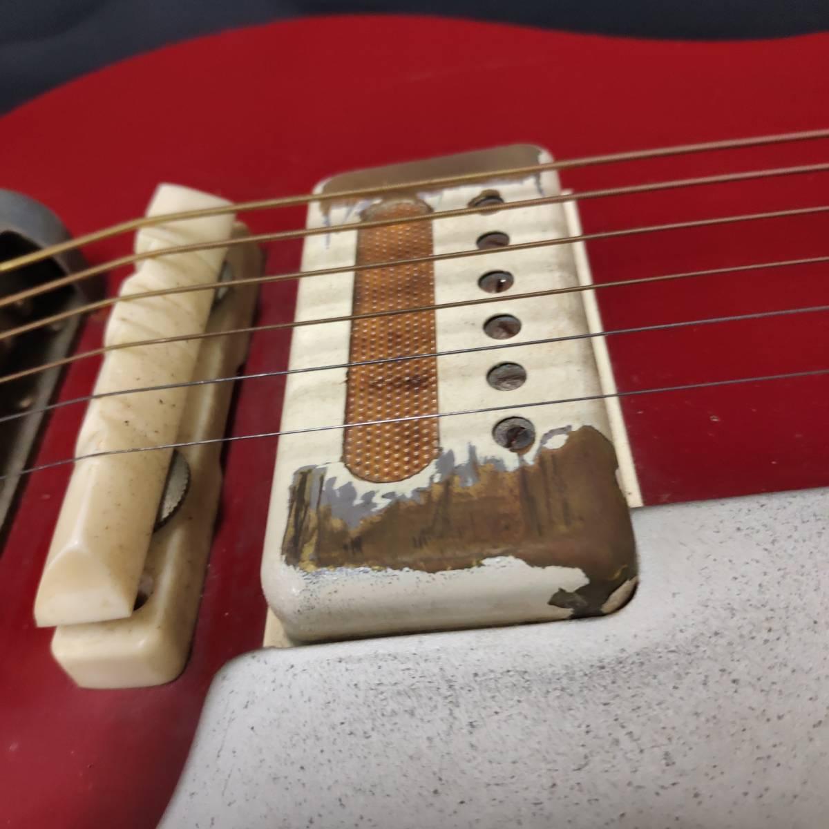 A22m11T GUYA TONE エレキギター LG-85T 本体 約100cm グヤトーン ビンテージ レッド 赤色_画像10