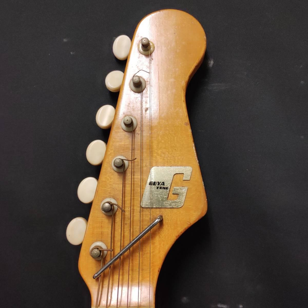 A22m11T GUYA TONE エレキギター LG-85T 本体 約100cm グヤトーン ビンテージ レッド 赤色_画像2