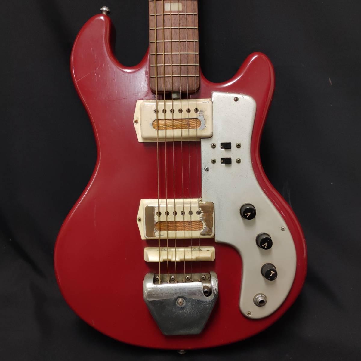 A22m11T GUYA TONE エレキギター LG-85T 本体 約100cm グヤトーン ビンテージ レッド 赤色_画像4