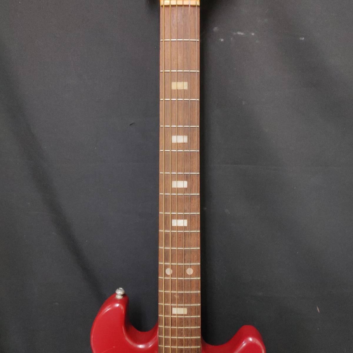 A22m11T GUYA TONE エレキギター LG-85T 本体 約100cm グヤトーン ビンテージ レッド 赤色_画像3