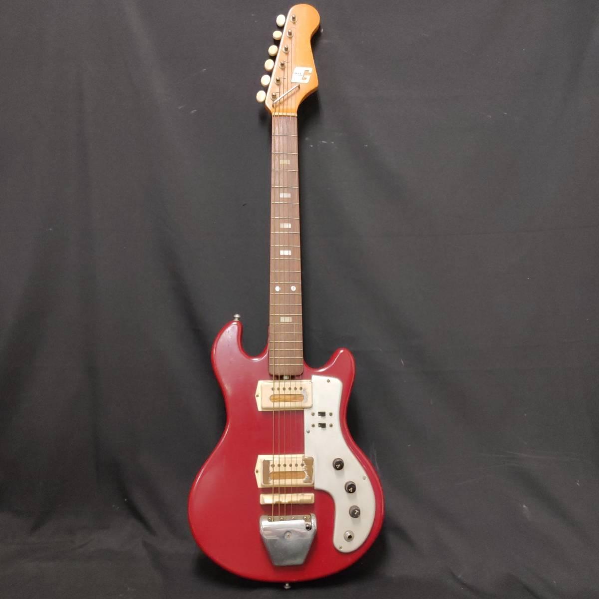 A22m11T GUYA TONE エレキギター LG-85T 本体 約100cm グヤトーン ビンテージ レッド 赤色