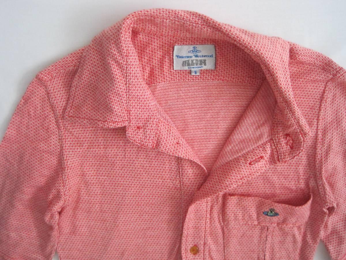 Vivienne Westwood man ヴィヴィアンウエストウッド マン 半袖シャツ S 初期 イタリア製 オリゾンティ_画像2