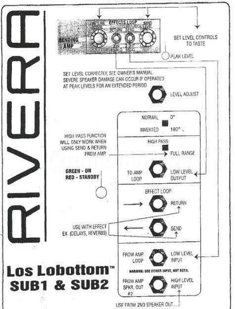 RIVERA リヴェラ LOS LOBOTTOM SUB1 キャビネット_画像10