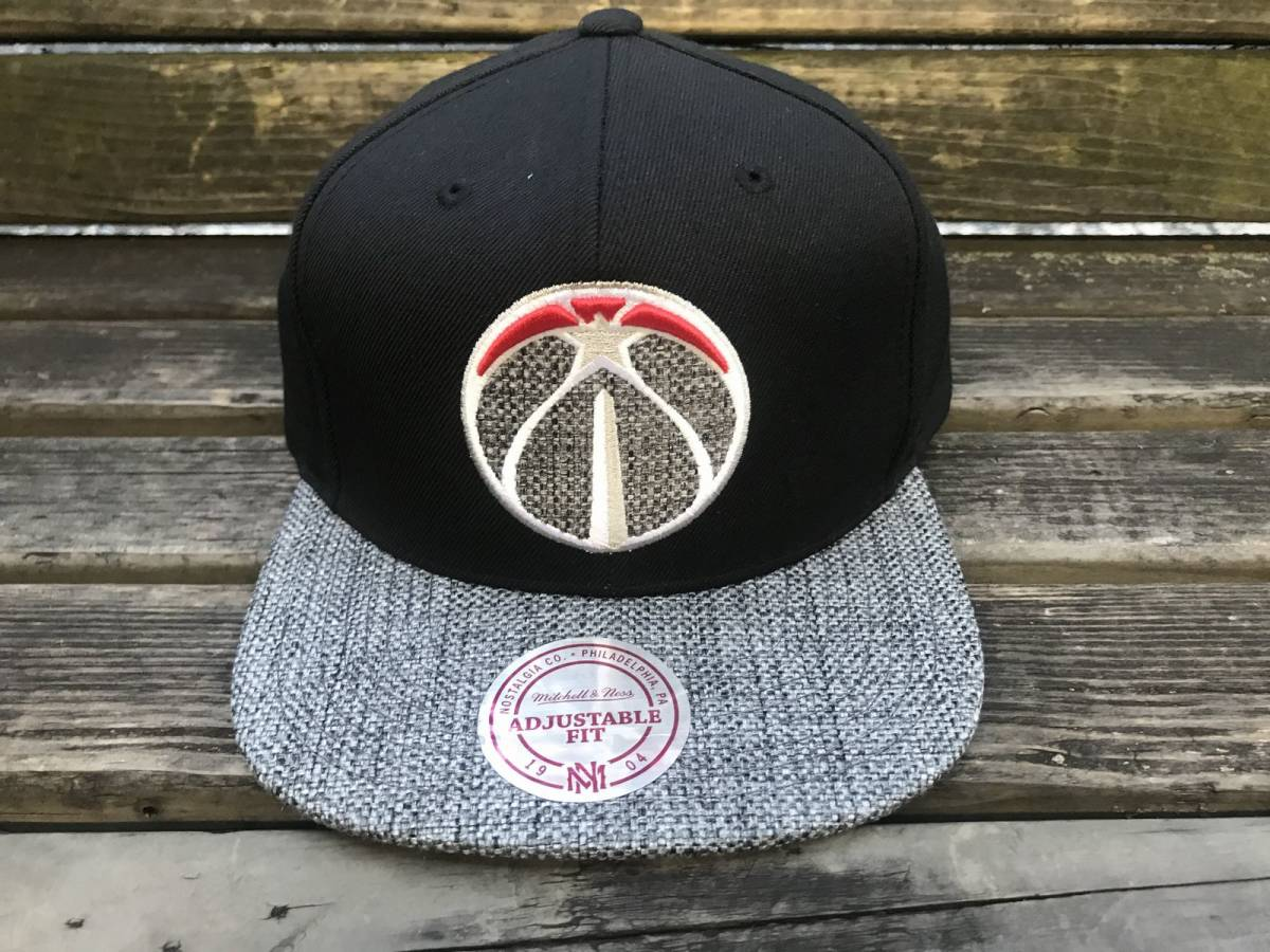 USA正規品 MITCHELL&NESS ミッチェル&ネス ワシントン Wizards ウィザーズ 黒 グレー スナップバックキャップ 帽子 NBA 公式 バスケ 八村塁_画像1