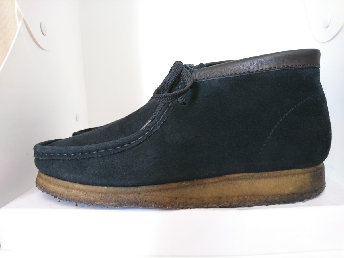 管理195 Clarks UK8.5 クラークス ワラビー スエード ブラック シューズ メンズ 革靴 レザー 黒 カジュアル ビジネス 8 1/2_画像2