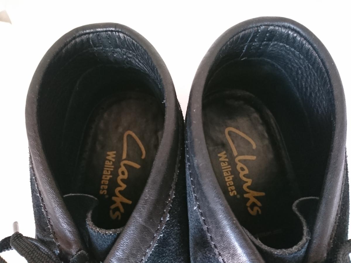 管理195 Clarks UK8.5 クラークス ワラビー スエード ブラック シューズ メンズ 革靴 レザー 黒 カジュアル ビジネス 8 1/2_画像8