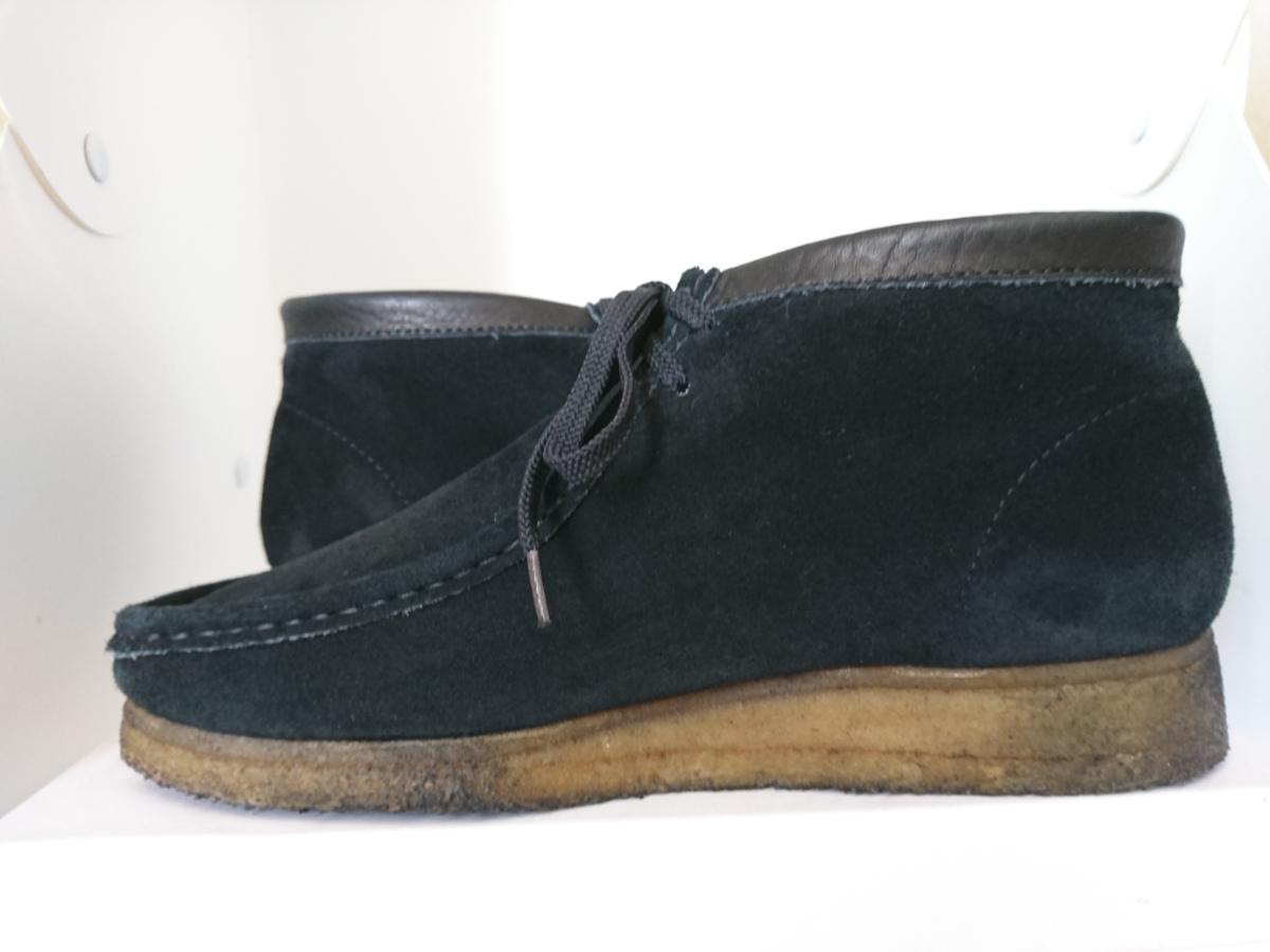 管理195 Clarks UK8.5 クラークス ワラビー スエード ブラック シューズ メンズ 革靴 レザー 黒 カジュアル ビジネス 8 1/2_画像5