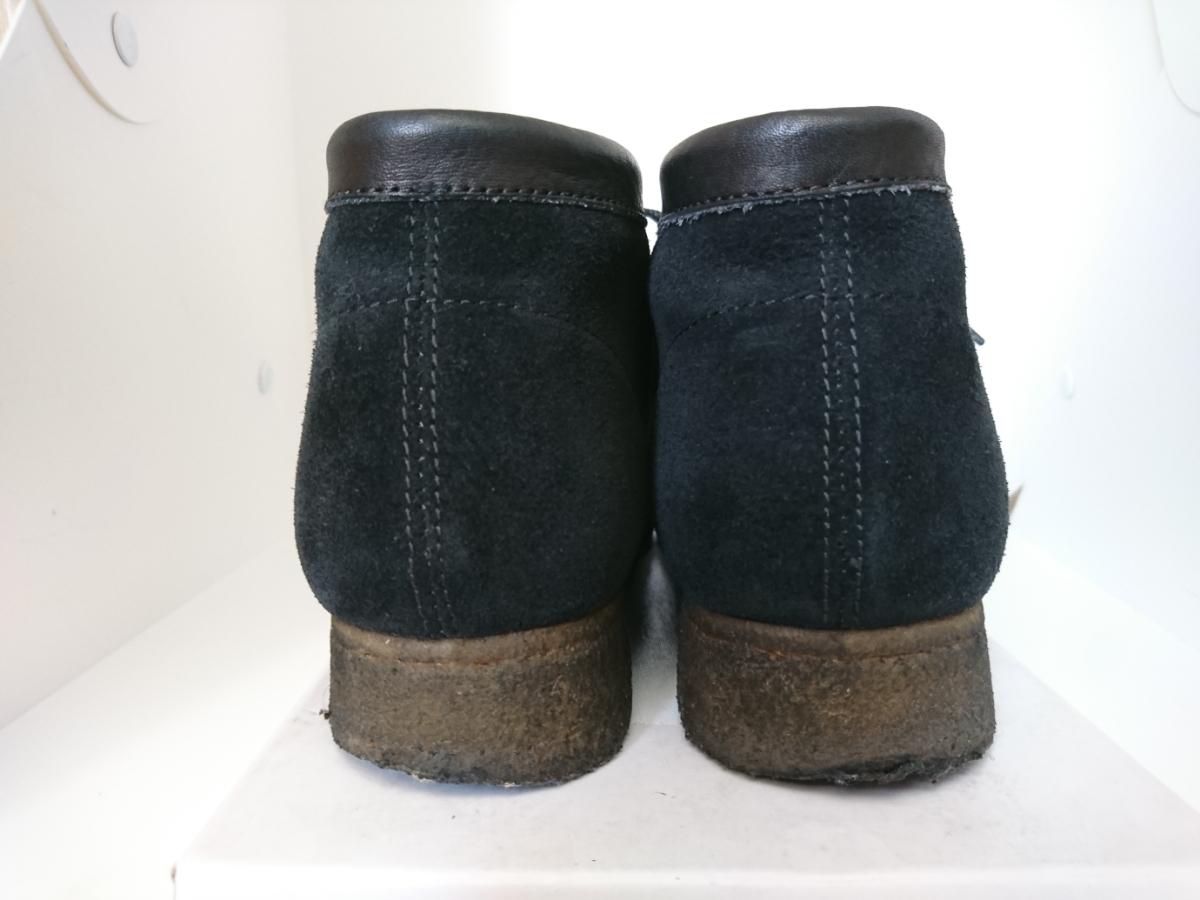 管理195 Clarks UK8.5 クラークス ワラビー スエード ブラック シューズ メンズ 革靴 レザー 黒 カジュアル ビジネス 8 1/2_画像3
