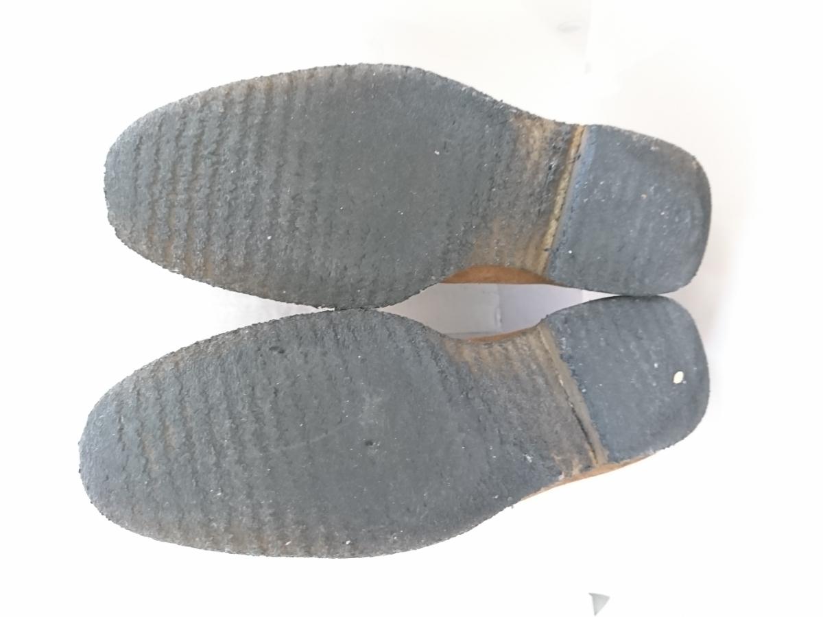 管理221 REGAL 25.5㎝リーガルスエード シューズ デザート ブーツ ブラウンメンズ 革靴 レザー 茶 カジュアル ビジネス_画像8