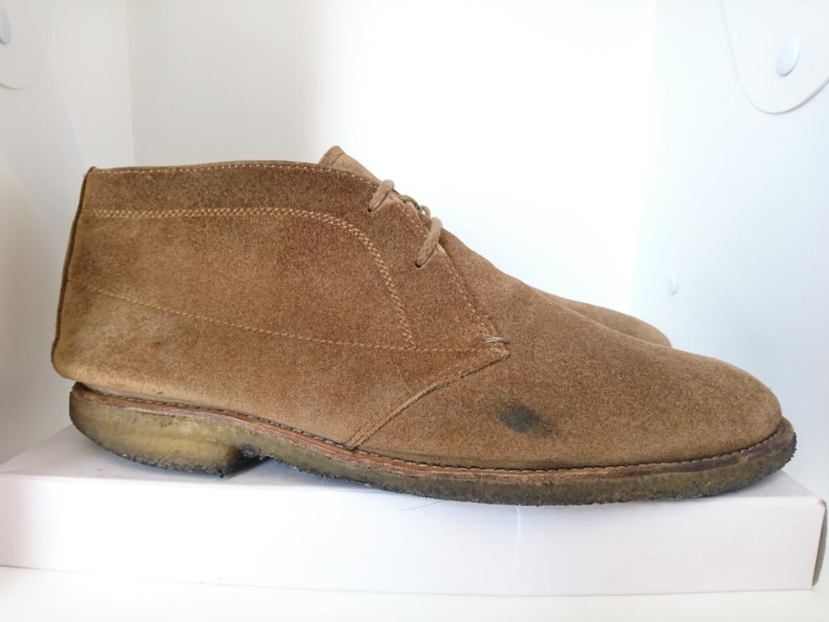 管理221 REGAL 25.5㎝リーガルスエード シューズ デザート ブーツ ブラウンメンズ 革靴 レザー 茶 カジュアル ビジネス_画像5