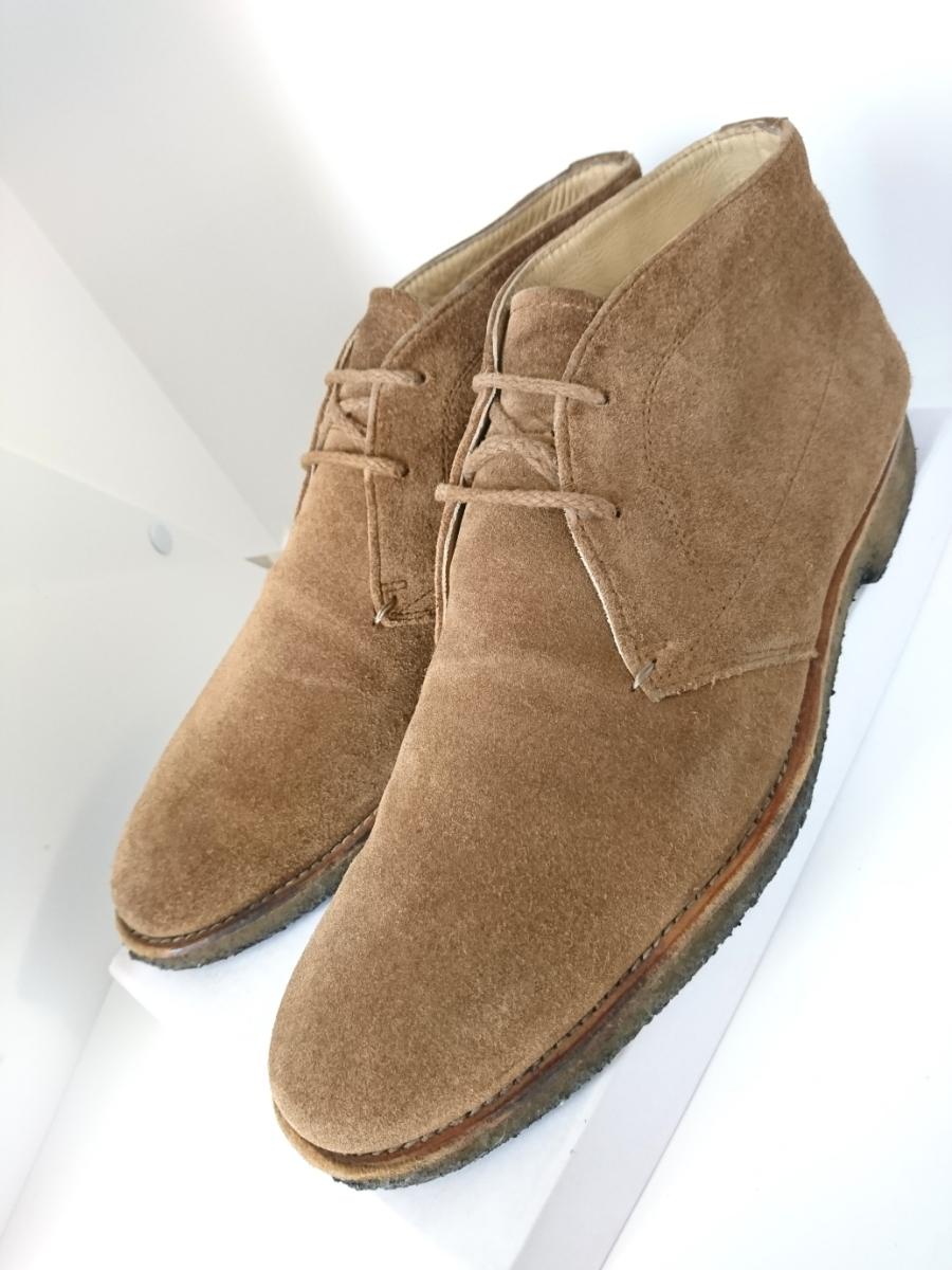 管理221 REGAL 25.5㎝リーガルスエード シューズ デザート ブーツ ブラウンメンズ 革靴 レザー 茶 カジュアル ビジネス_画像1
