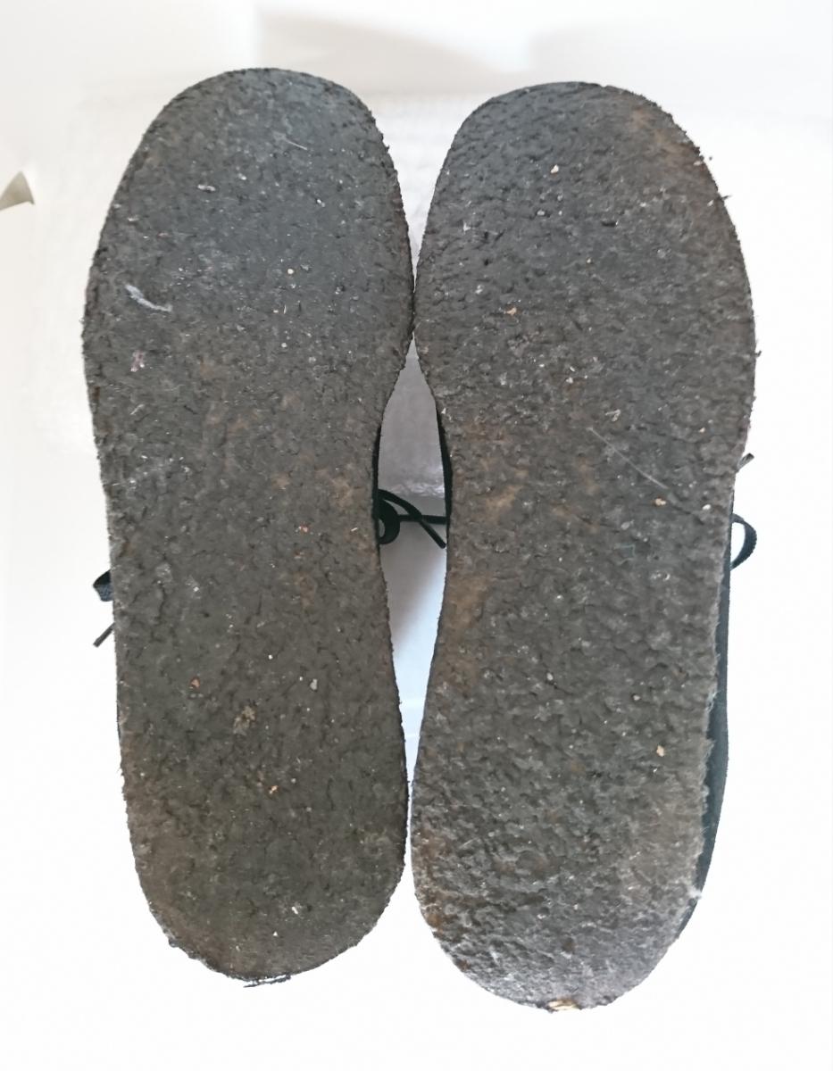 管理195 Clarks UK8.5 クラークス ワラビー スエード ブラック シューズ メンズ 革靴 レザー 黒 カジュアル ビジネス 8 1/2_画像7