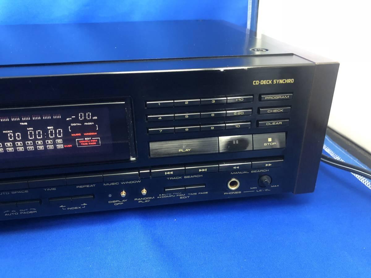 PIONEER COMPACT DISC PLAYER MODEL PD-737 CD-DECK SYNCHRO パイオニア CDデッキ リモコン無し 通電回転確認のみ ジャンク扱い _画像4
