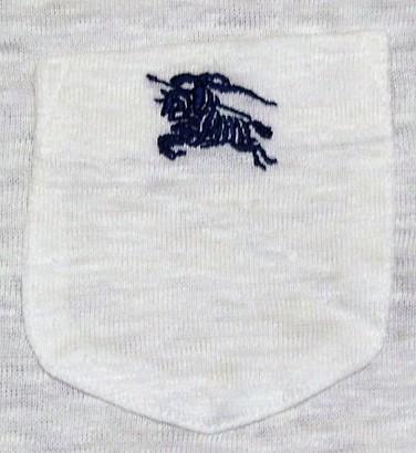 未使用バーバリーブラックレーベルBurberryBlacklabeリネンxノバチェック&ビッグロゴ刺繍ポケットTシャツ★2_画像4