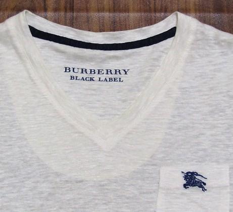 未使用バーバリーブラックレーベルBurberryBlacklabeリネンxノバチェック&ビッグロゴ刺繍ポケットTシャツ★2_画像2