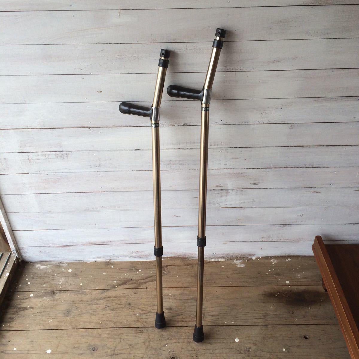 杖 松葉杖 ロフストランド つえ 介護 2点 伸縮