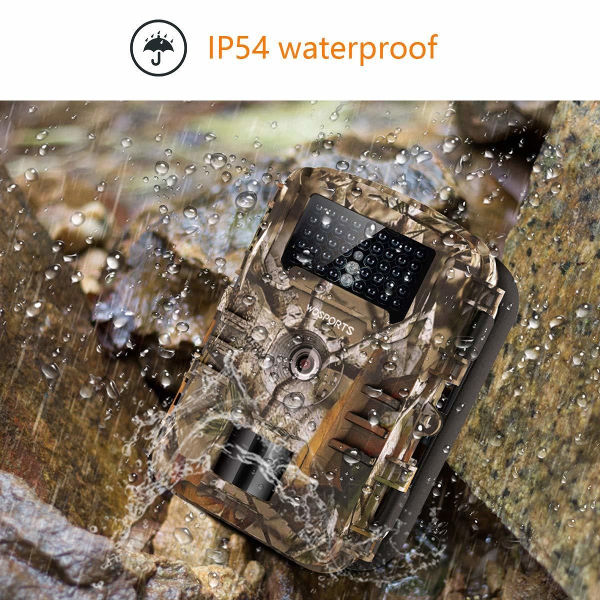 トレイルカメラ 防犯カメラ 暗視カメラ 人感センサー1200万画素 IP56防水 1080P フルHD 動き検知 不可視赤外線LEDライト 日本語説明書_画像8