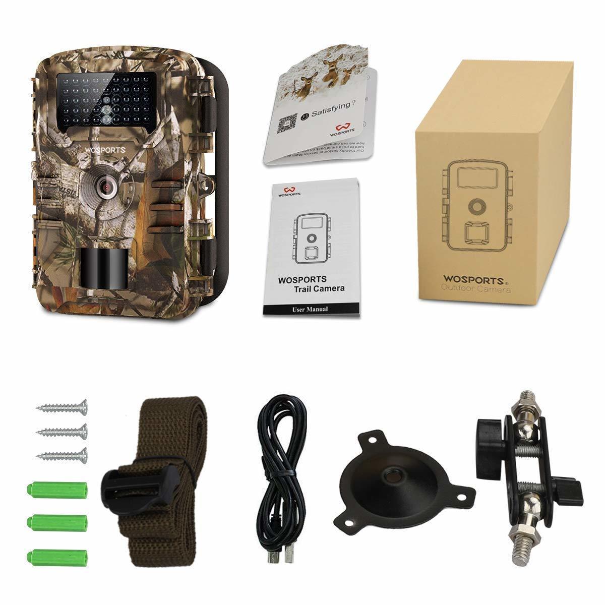 トレイルカメラ 防犯カメラ 暗視カメラ 人感センサー1200万画素 IP56防水 1080P フルHD 動き検知 不可視赤外線LEDライト 日本語説明書_画像9