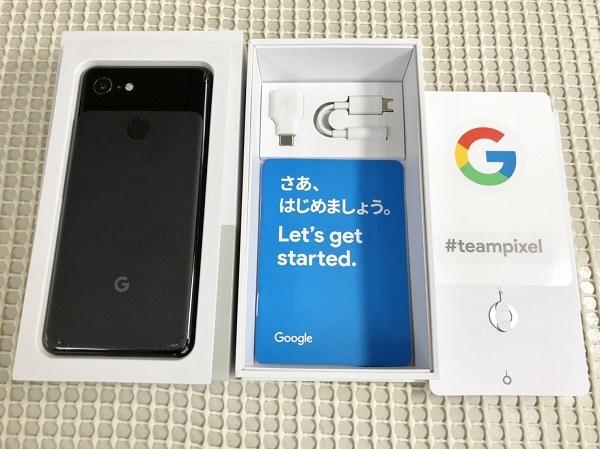 即決【稼働品ジャンク扱い/中古】〇判定♪ Softbank Google Pixel 3 64GB ジャスト ブラック ソフトバンク Android スマホ 本体 即送♪