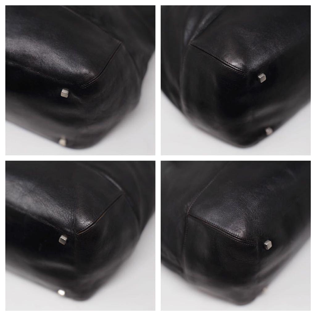 極美品 美品 A4収納 PC収納 LOEWE ロエベ ビジネスバッグ トートバッグ 22万 メンズ カーフレザー カーフレザー 本革 黒 ブラック レザー_画像5