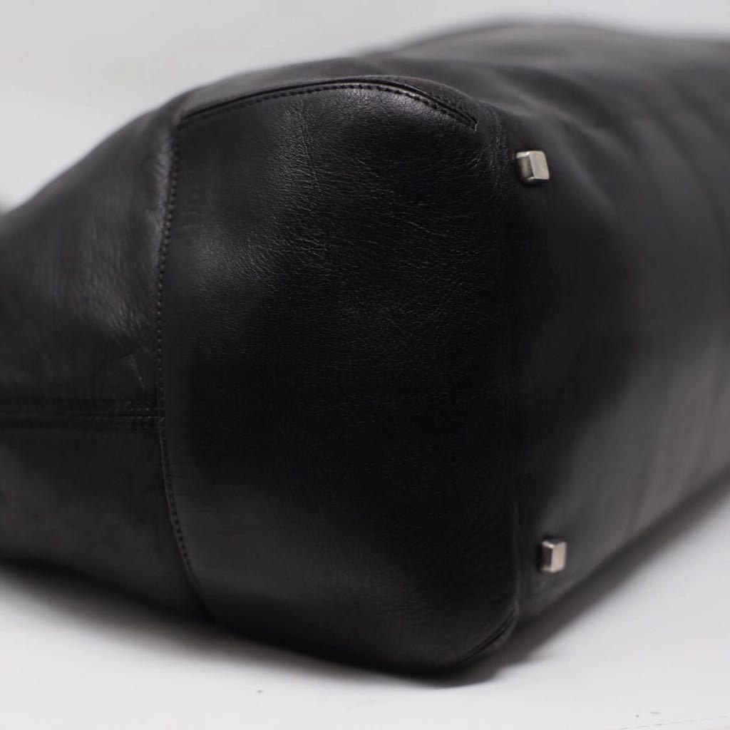 極美品 美品 A4収納 PC収納 LOEWE ロエベ ビジネスバッグ トートバッグ 22万 メンズ カーフレザー カーフレザー 本革 黒 ブラック レザー_画像7