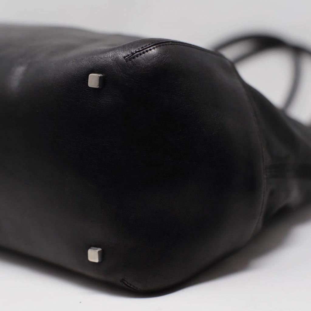 極美品 美品 A4収納 PC収納 LOEWE ロエベ ビジネスバッグ トートバッグ 22万 メンズ カーフレザー カーフレザー 本革 黒 ブラック レザー_画像6